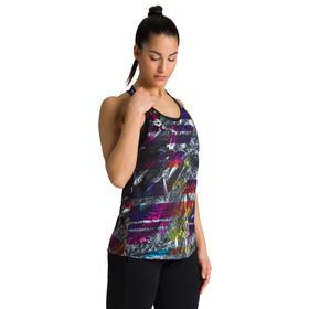 arena Solid Gym Tank Top Women iridescent stripe/black
